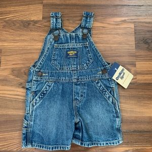 NWT infant boy size 6 months jean overalls shorts